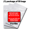 11 x 16 zipper seal vacuum sealer bags (50)